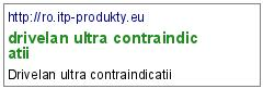 drivelan ultra contraindicatii